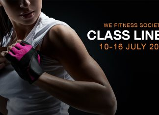 WE Fitness Society Class Lineup 10-16 July
