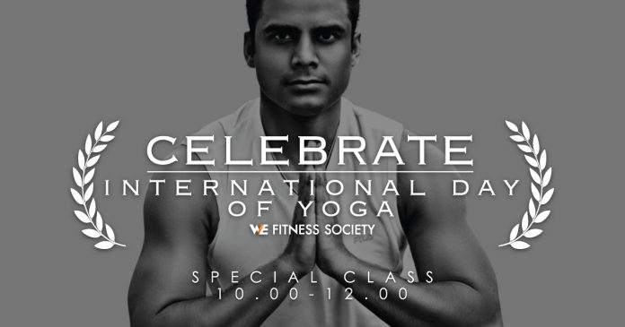WE Fitness celebrate International Day of Yoga.
